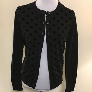 NWT LOFT Black Polka Dot Cardigan